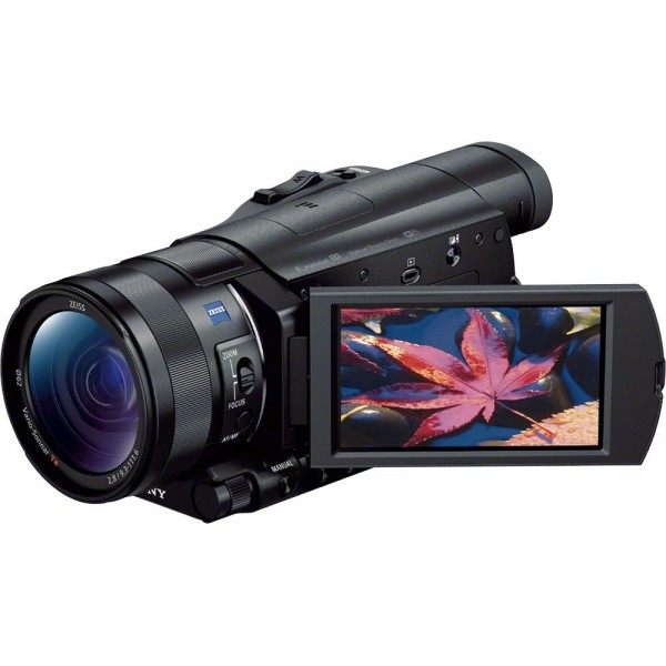 Sony - Prosumer AX100 4K HD Flash Memory Premium C...