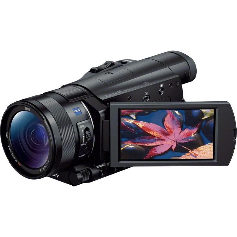 Sony - Prosumer AX100 4K HD Flash Memory Premium Camcorder - Black