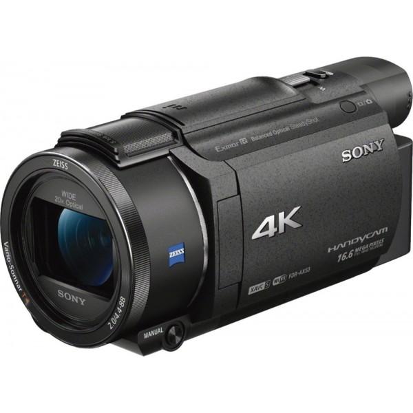 Sony - Handycam AX53 4K Flash Memory Premium Camco...