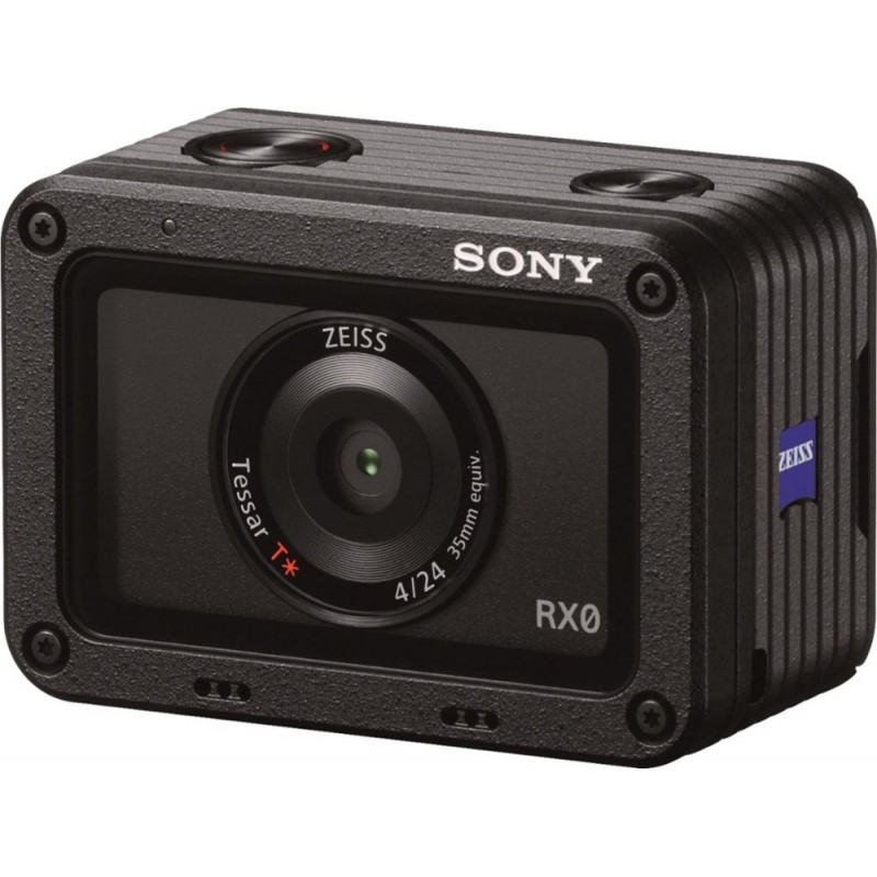Sony - RX0 HD Waterproof Action Camera - black