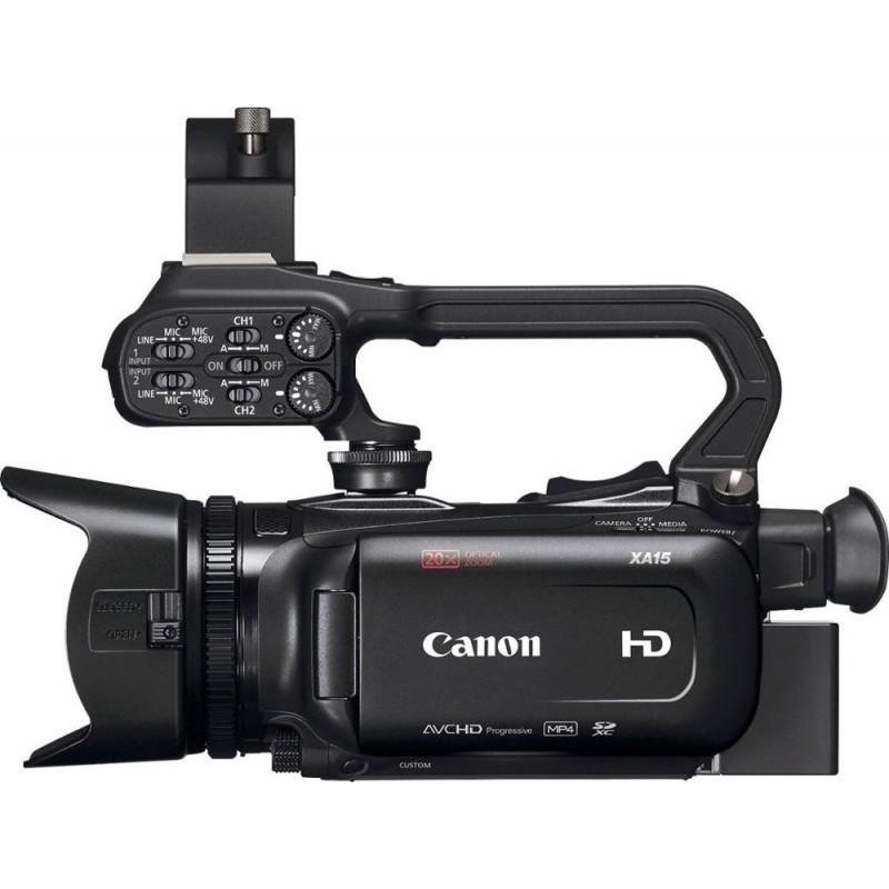 Canon - XA15 HD Flash Memory Premium Camcorder - Black