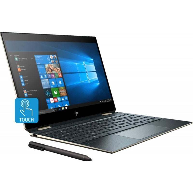 "HP - Spectre x360 2-in-1 13.3"" UHD Touch-Screen Laptop - Intel Core i7 - 16GB Memory - 512GB Solid State Drive - Poseidon Blue"