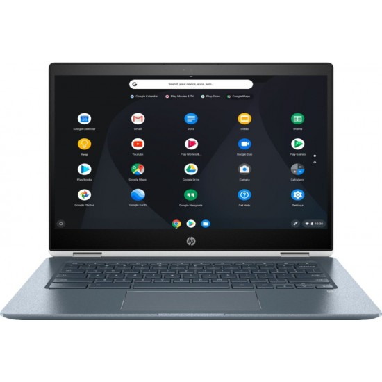 "HP - 2-in-1 14"" Touch-Screen Chromebook - Intel Core i3 - 8GB Memory - 64GB eMMC Flash Memory - HP Finish In Ceramic White And Cloud Blue"
