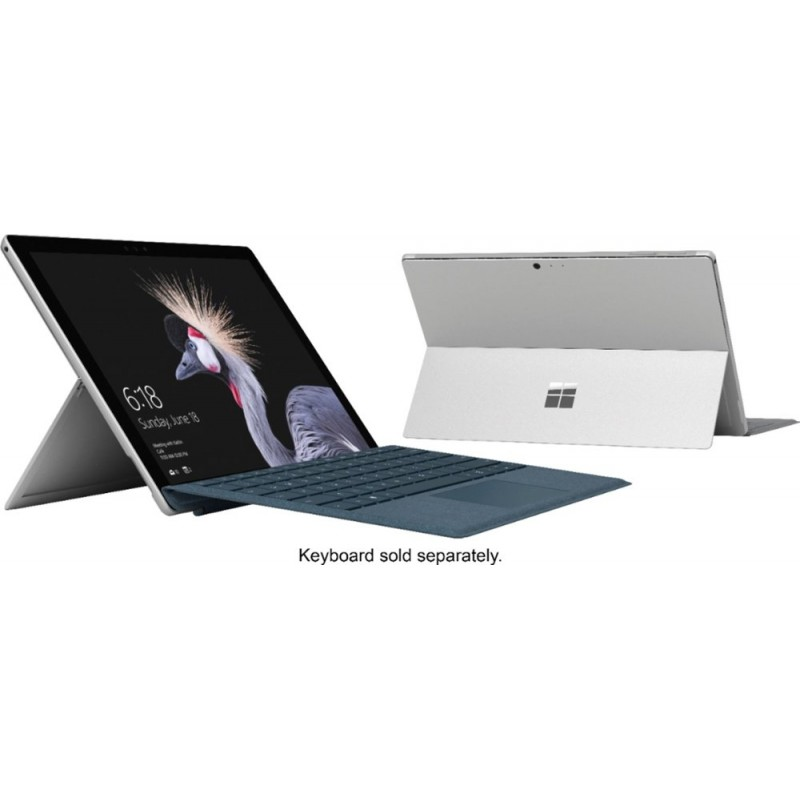"Microsoft - Surface Pro – 12.3"" Touch-Screen – Intel Core i7 – 8GB Memory - 256GB Solid State Drive (Fifth Generation) - Silver"