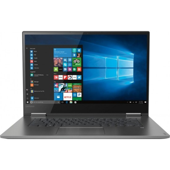 """Lenovo - Yoga 730 2-in-1 15.6"""" Touch-Screen Laptop - Intel Core i7 - 8GB Memory - 256GB Solid State Drive - Iron Gray"""