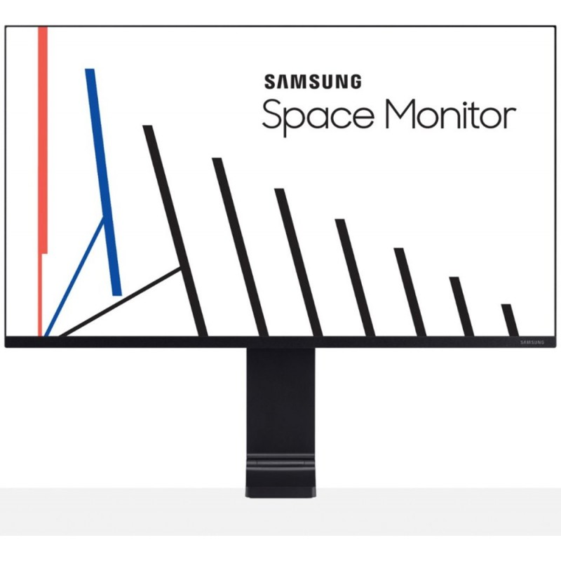 "Samsung - 31.5"" LCD 4K UHD Space Monitor - Bl..."