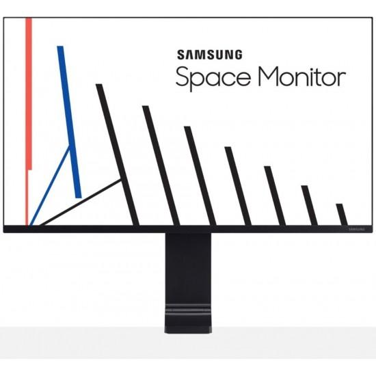 "Samsung - 27"" LCD QHD Space Monitor - Black"