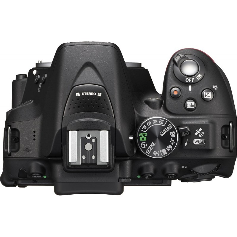 Nikon - D5300 DSLR Camera with AF-P VR DX 18-55mm and AP-P DX 70-300mm Lenses - Black
