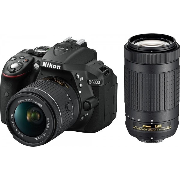 Nikon - D5300 DSLR Camera with AF-P VR DX 18-55mm ...