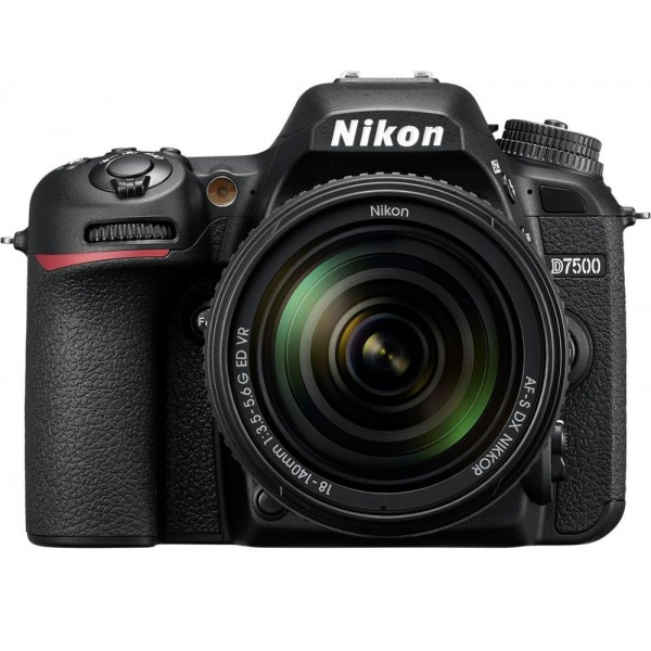 Nikon - D7500 DSLR Camera with AF-S DX NIKKOR 18-1...