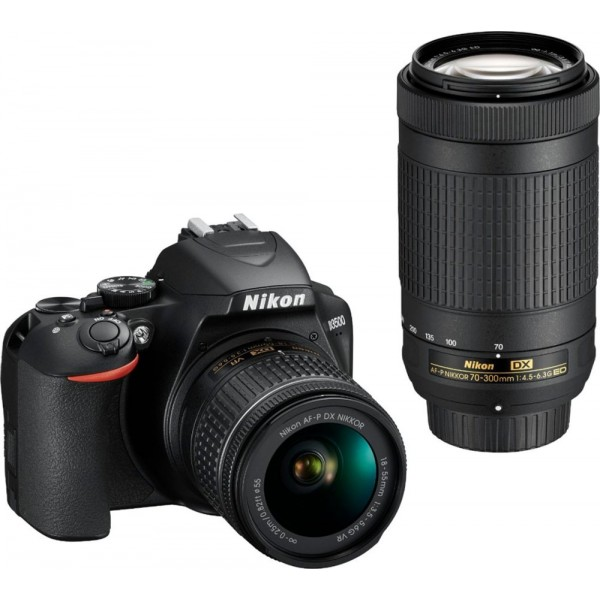 Nikon - D3500 DSLR Camera with AF-P DX NIKKOR 18-5...