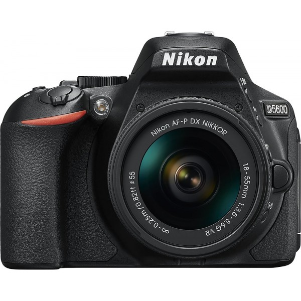 Nikon - D5600 DSLR Camera with AF-P DX NIKKOR 18-5...