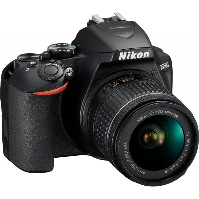 Nikon - D3500 DSLR Camera with AF-P DX NIKKOR 18-55mm f/3.5-5.6G VR Lens