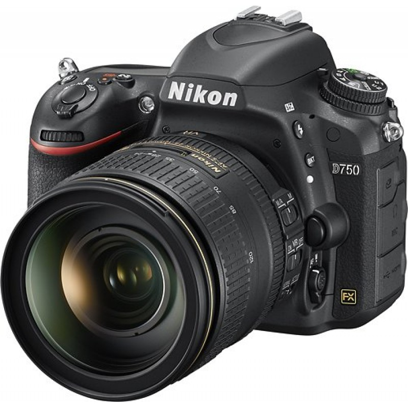 Nikon - D750 DSLR Camera with AF-S NIKKOR 24-120mm f/4G ED VR Lens - Black