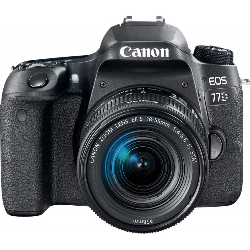 Canon - EOS 77D DSLR Camera with EF-S 18-55mm IS STM Lens - Black