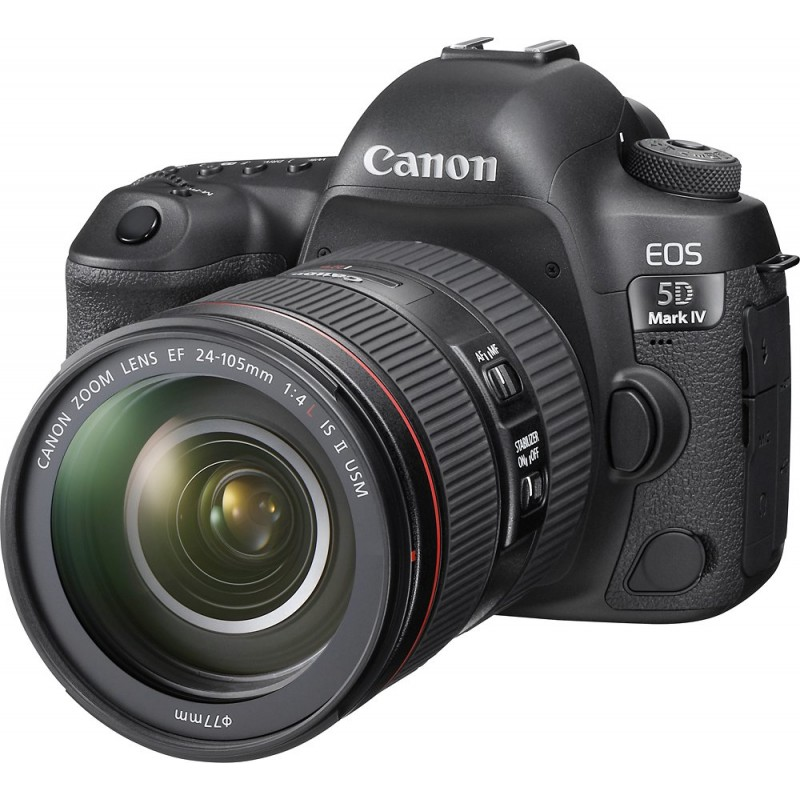 Canon - EOS 5D Mark IV DSLR Camera with 24-105mm f/4L IS II USM Lens - Black