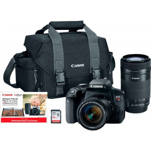 Canon - EOS Rebel T7i DSLR Camera with 18-55mm and...