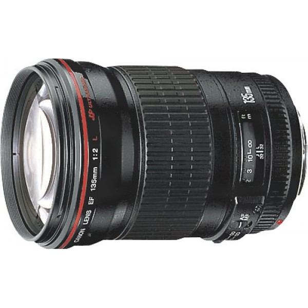 Canon - EF 135mm f/2L USM Telephoto Lens - Black