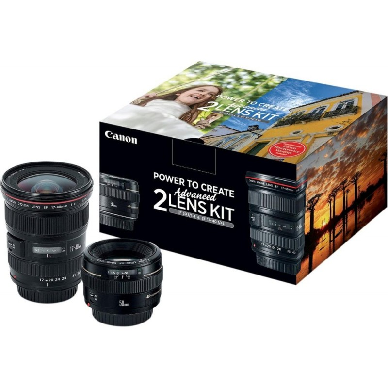 Canon - EF 17-40mm f/4L USM Wide-Angle Zoom and EF...