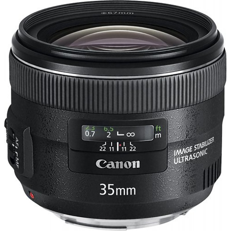 Canon - EF 35mm f/2 IS USM Wide-Angle Lens - Black