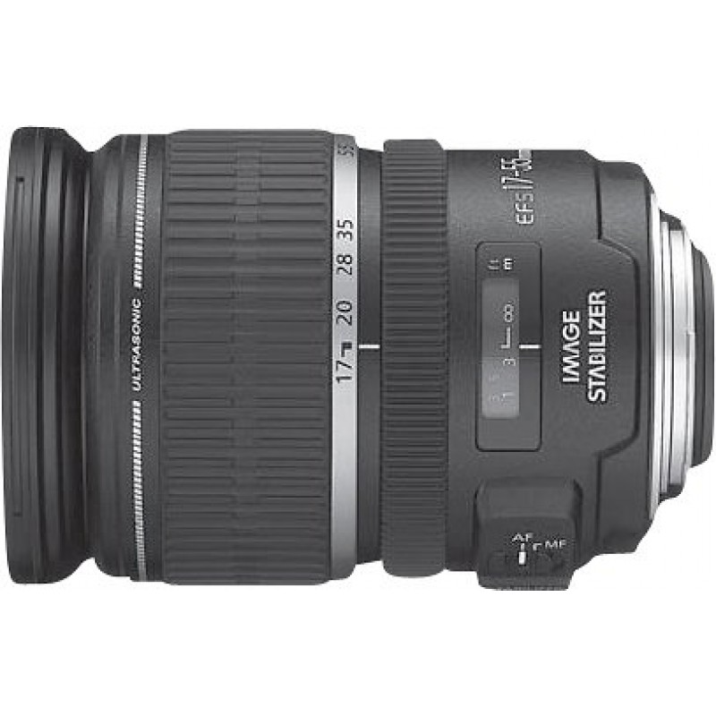 Canon - EF-S 17-55mm f/2.8 IS USM Standard Zoom Lens - Black