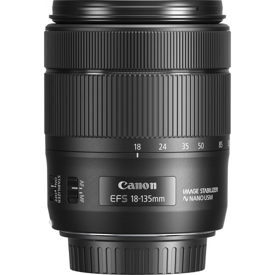 Canon - EF-S 18-135mm 1:3.5-5.6 IS USM Standard Zoom Lens - black