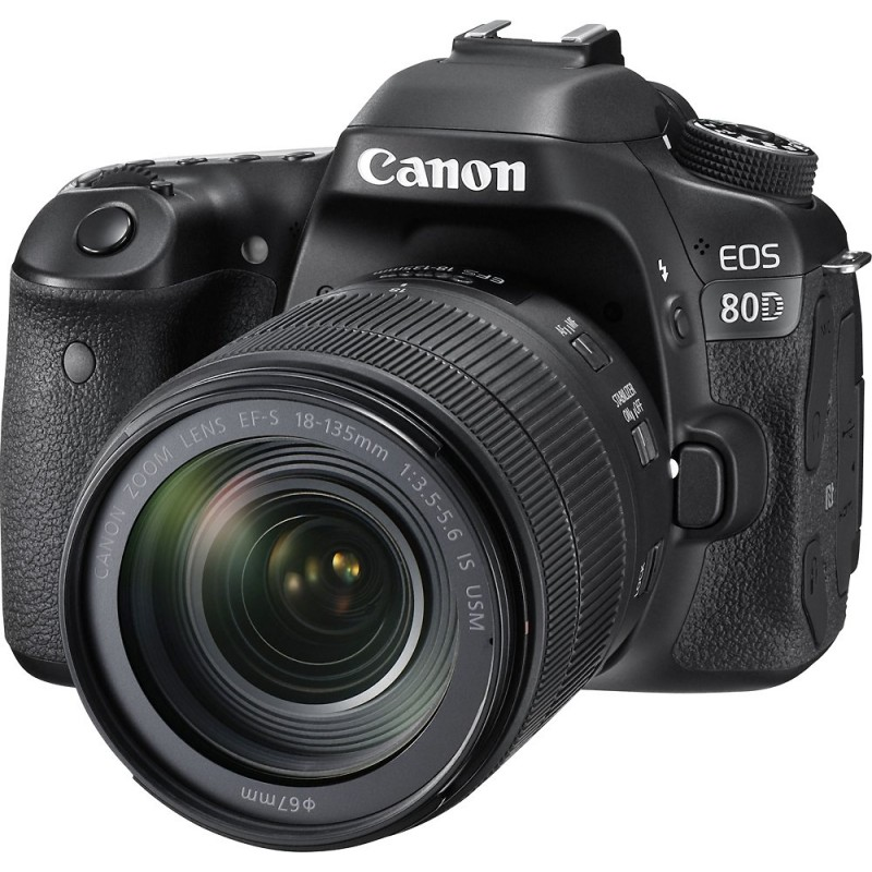 Canon - EOS 80D DSLR Camera with 18-135mm IS USM Lens - Black