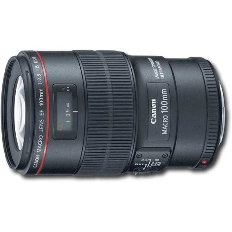 Canon - EF 100mm f/2.8L Macro IS USM Lens - Black