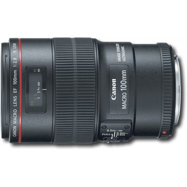 Canon - EF 100mm f/2.8L Macro IS USM Lens - Black
