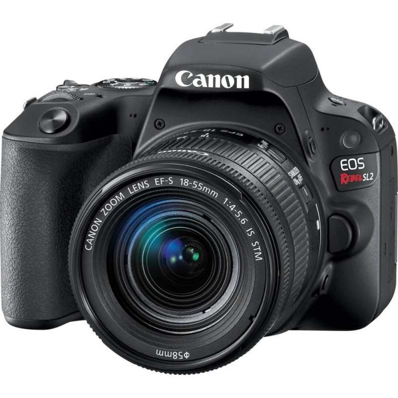Canon - EOS Rebel SL2 DSLR Camera with EF-S 18-55mm IS STM Lens - Black