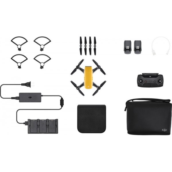 DJI - Spark Fly More Combo Quadcopter - Yellow