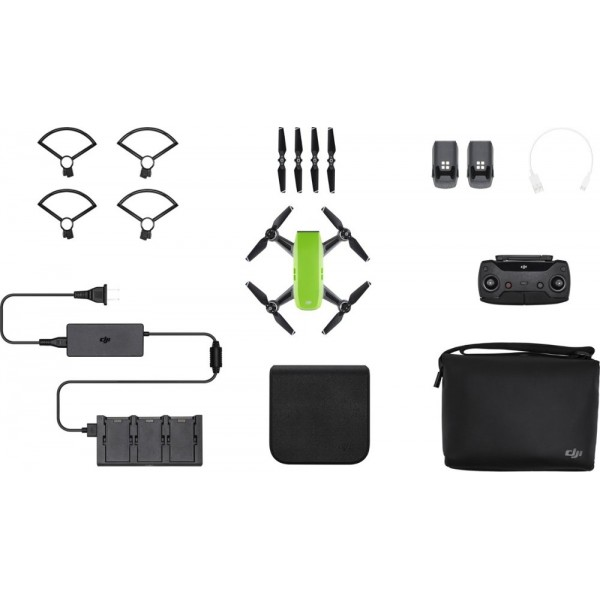 DJI - Spark Fly More Combo Quadcopter - Green