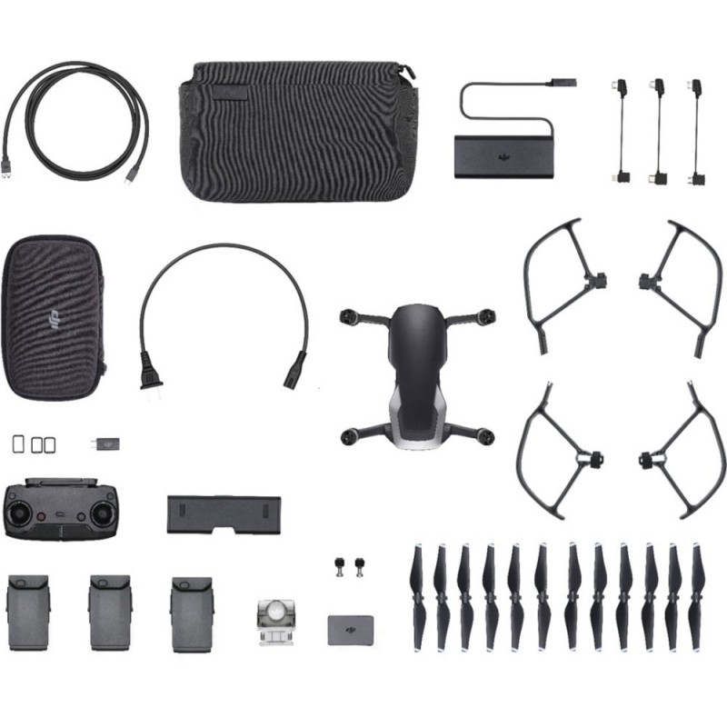 DJI - Mavic Air Fly More Combo Quadcopter with Remote Controller - Onyx Black