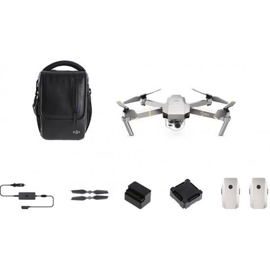 DJI - Mavic Pro Platinum Quadcopter Fly More Combo - Platinum