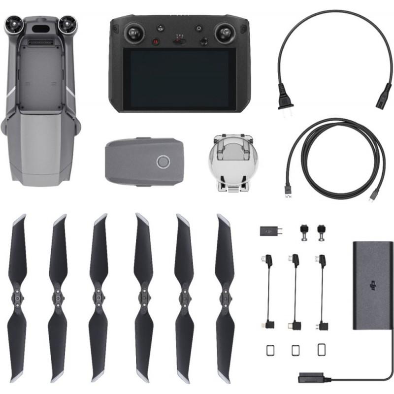 DJI - Mavic 2 Zoom Quadcopter with DJI Smart Controller - Black